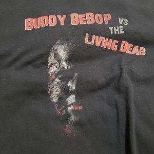 Jerzees Shirts - Rare Buddy Bebop vs the living dead tee size M